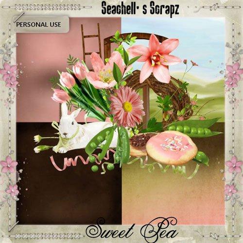 Цветочный скрап-набор - Душистый горошек