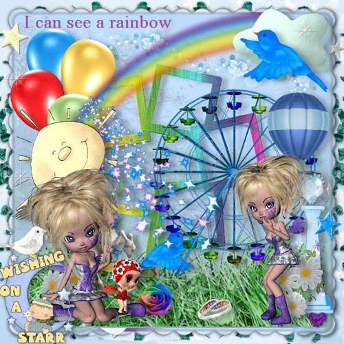 Детский скрап-набор - Я вижу радугу