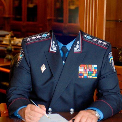 Шаблон мужской - кресло начальника МВД