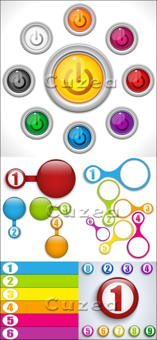 Buttons Colors in vector