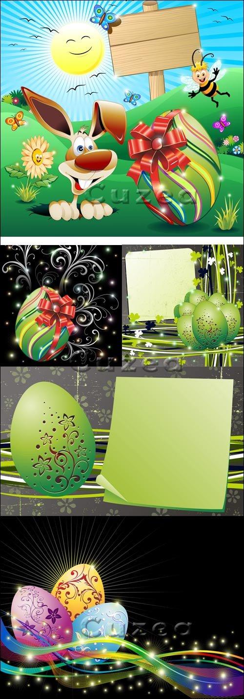Пасхальные фоны в векторе/ Easter backgrounds in vector