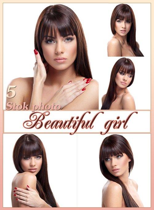 Красивая девушка, девушка с длинными волосами, прямые длинные волосы - Сток фото