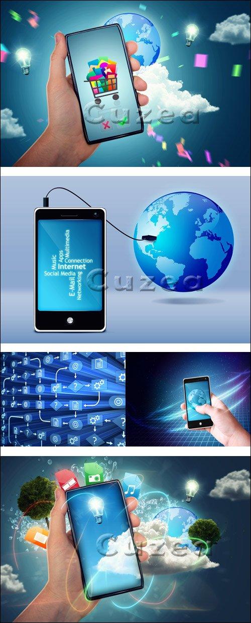 Клипарт смарфонов/ Smartphone - Stock photo