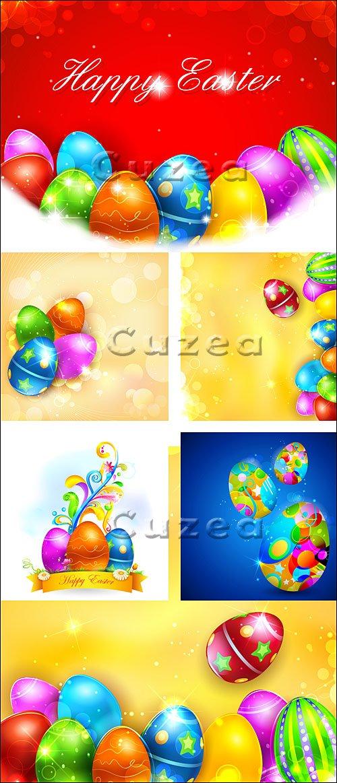 Яркие пасхальные яйца/ Colorful Easter Egg in vector