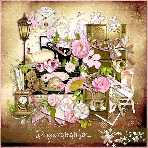 Романтический скрап-набор - На память