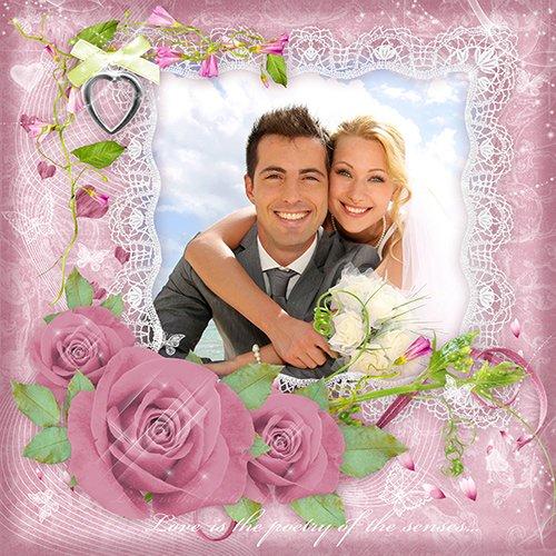 Фоторамка Розовые розы