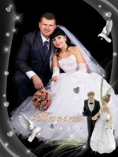 Фоторамка-Свадебная Розовые розы