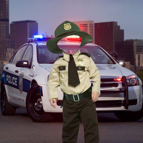Шаблон для фотошопа - Малыш полицейский
