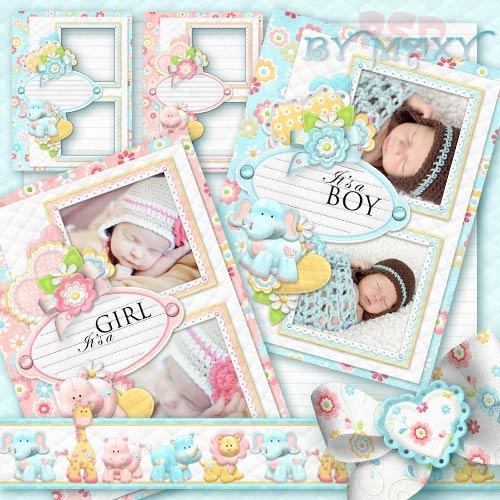 Фотошоп детские парные рамки для ваших малышей