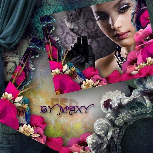 Фоторамка с маками - Цветы цвета страсти