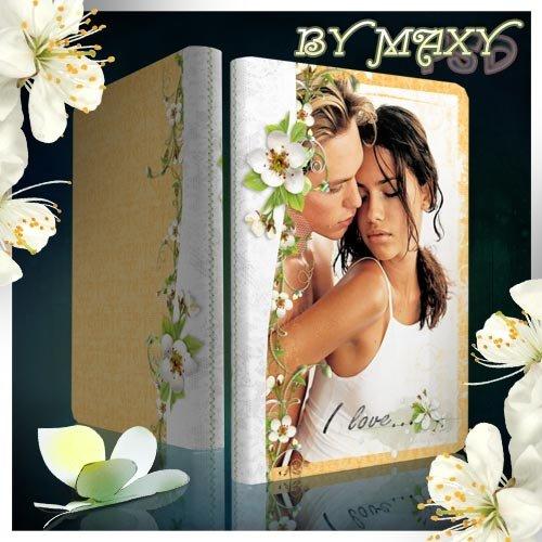 Красивый фотоальбом с цветочным дизайном - Краски весны