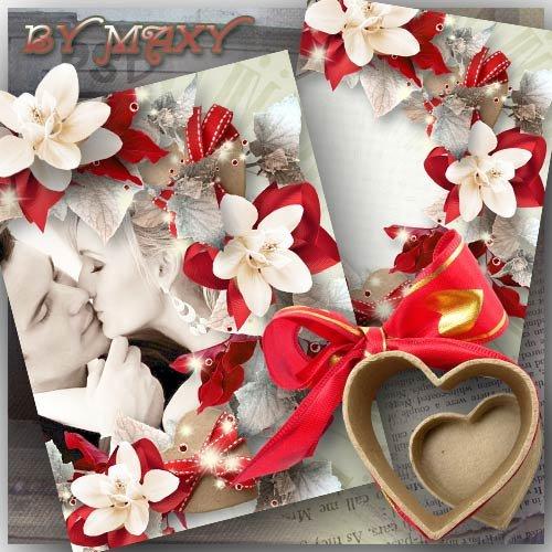 Фоторамка для любящих - Шепот любви