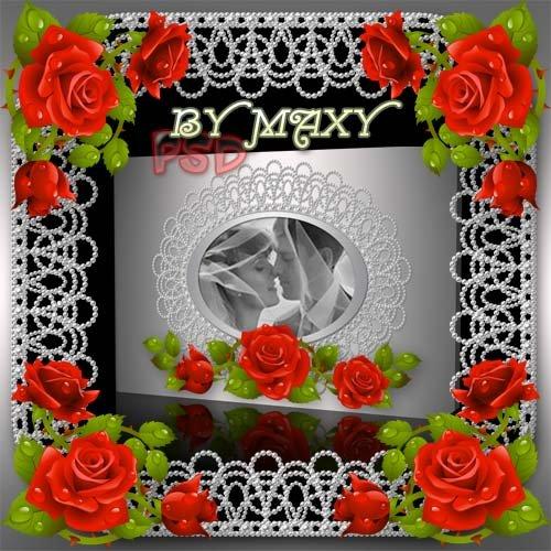 Свадебный фотоальбом - Жемчужные кружева