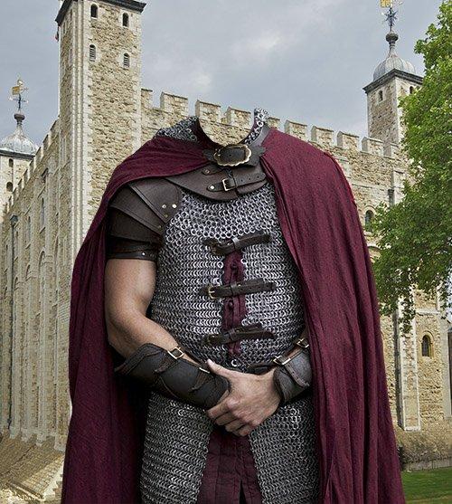 Настоящий рыцарь - фотошаблон фотошоп