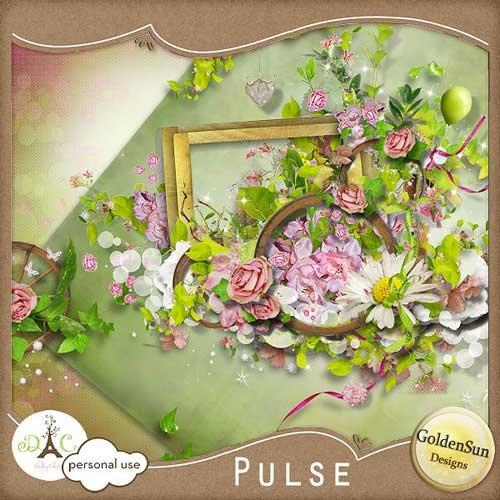 Цветочный скрап-набор - Пульс