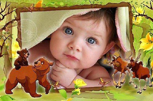 Детская рамка для фотографий - Братец медвежонок