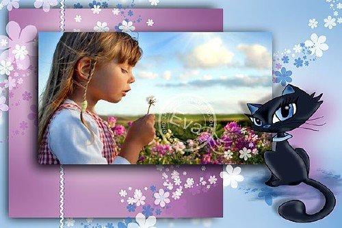 Детская рамка для фото - Кошечка