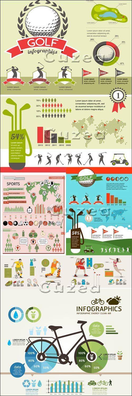 Спортивная инфографика/ Sport infografic in vector