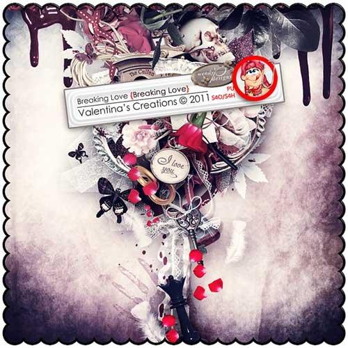 Романтический скрап-набор - Разбитая любовь