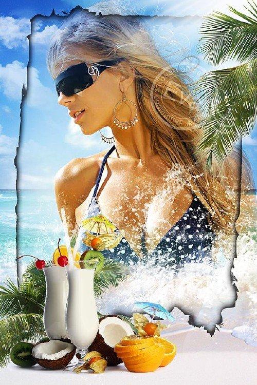 Рамка для фотографий - Море, солнце и отдых