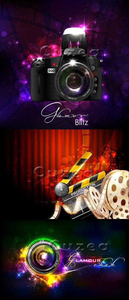 Кино и фото-фоны в векторе/ Photo and cinema backgrounds in vector
