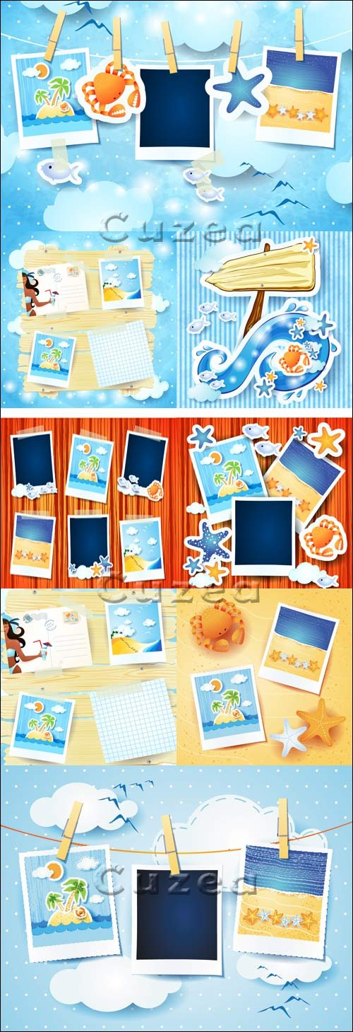 Summer memory - vector stock