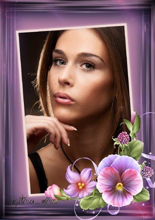 Женская рамка - Красивый портрет