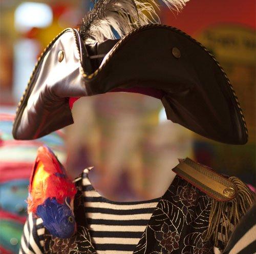 Пират с попугаем - шаблон для мужчин