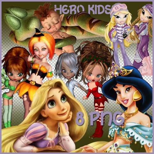 Сказочный набор для скрапбукинга - Детские герои