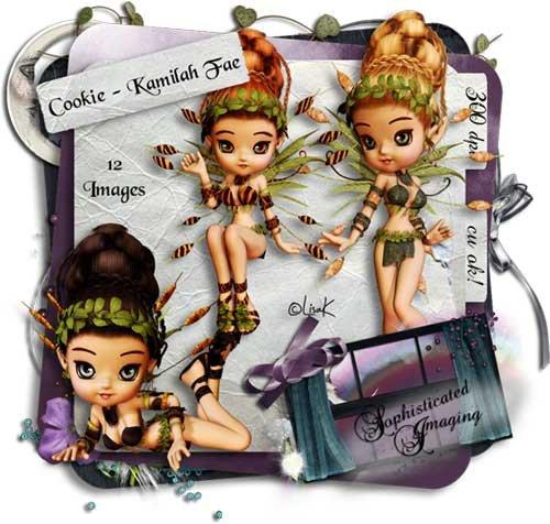 Сказочный набор с феями для скрапбукинга - Лесная фея