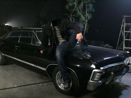 Мужской шаблон - На машине шевроле Impala