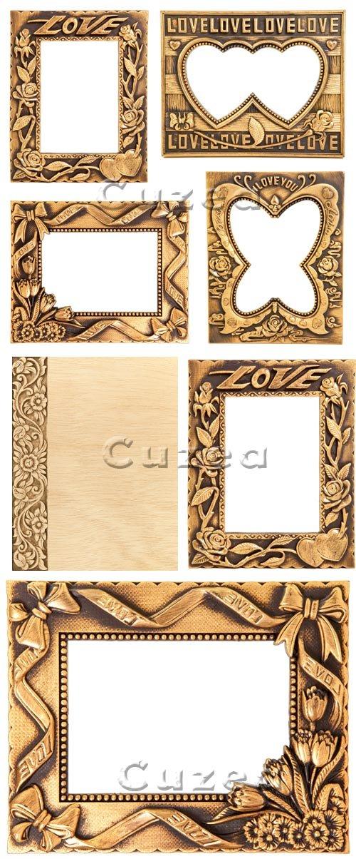 Романтичные рамочки / Romantic frame - stock photo