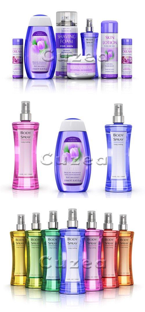 Набор парфюмерии / Set of perfumes - stock photo