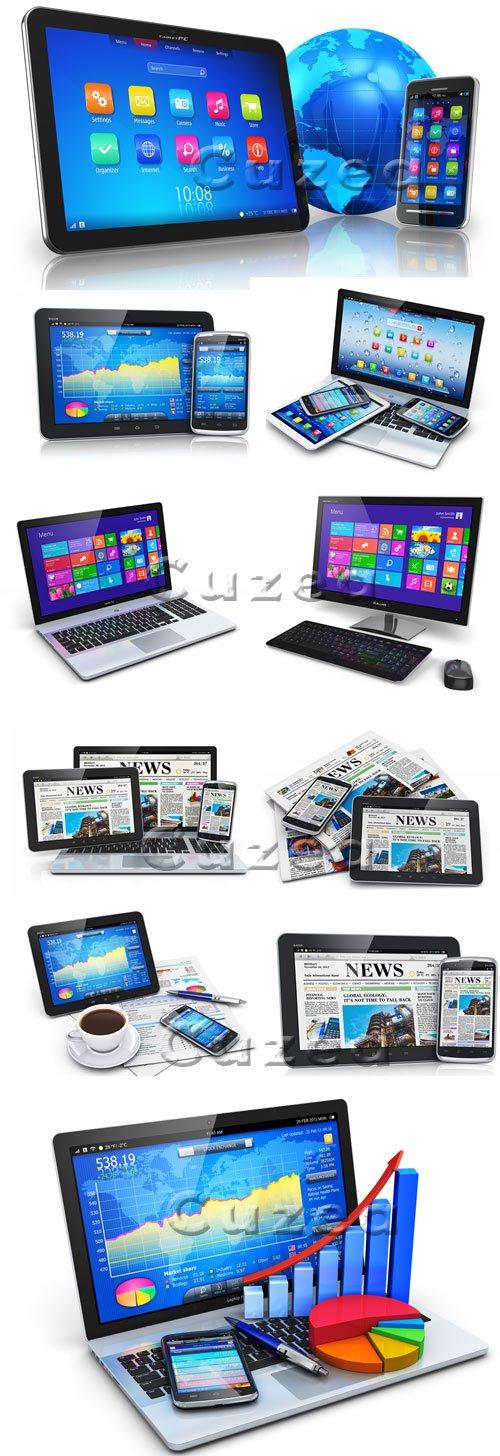 Современные компьютеры / Computers modern - stock photo