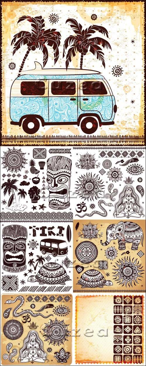 Винтажные илюстрации в векторе / Vintage  illustration in vector