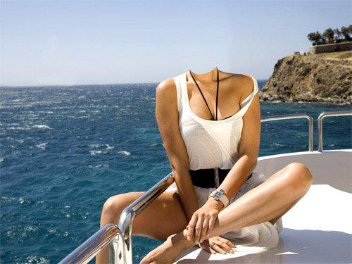 PSD шаблон - Прогулка на катере в море