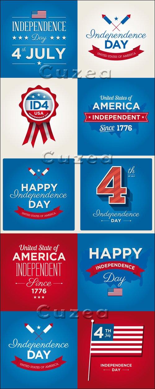 День Независимости США, часть 7 / Independent day of USA, 7 - vector stock