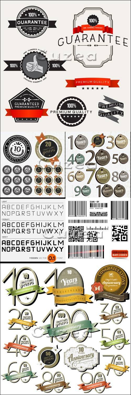 Винтажные лэйблы и стикера, часть 6 / Vintage label and premium stickers in vector, part 6