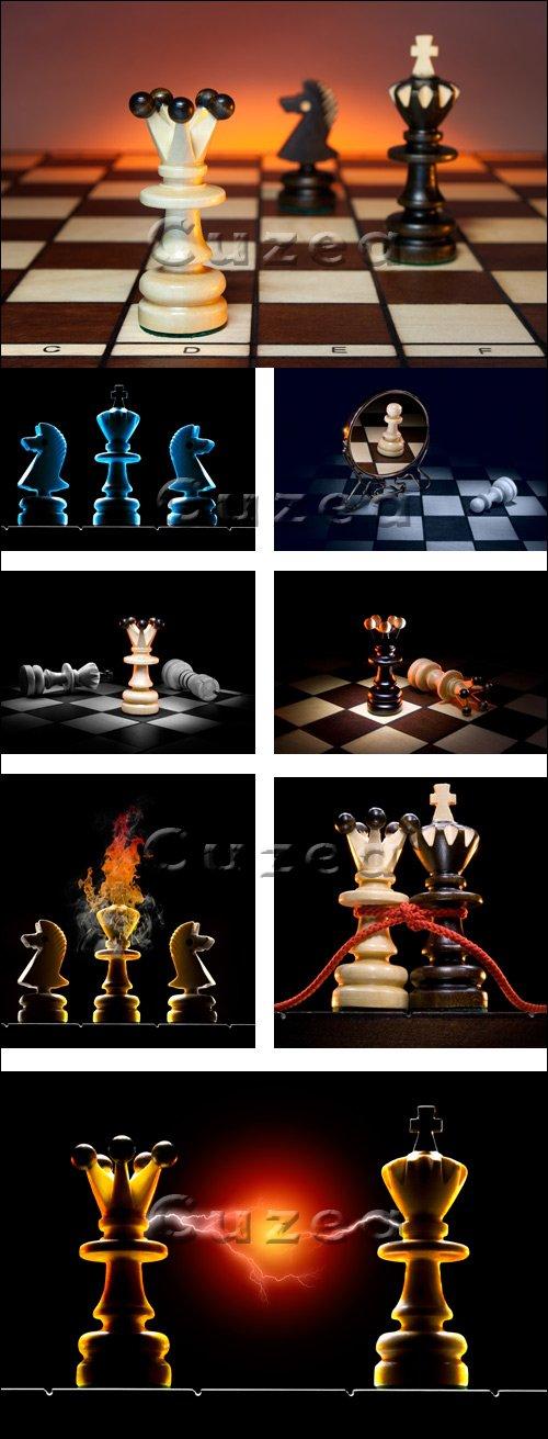 Шахматные фигуры / Chessmen creative - stock photo