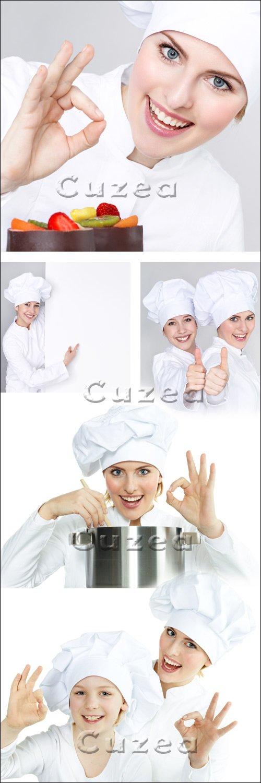 Шеф повара на белом фоне / Chief of the cook - Stock photo