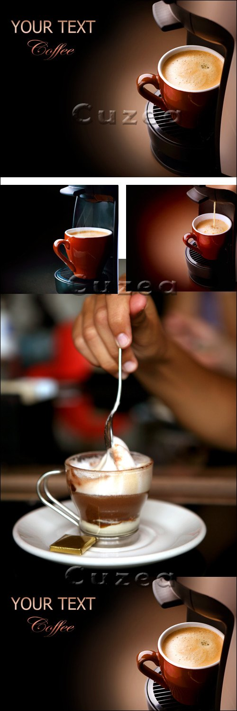 Чашка кофе и место для текста / Cup of cofee and place for text - stock photo