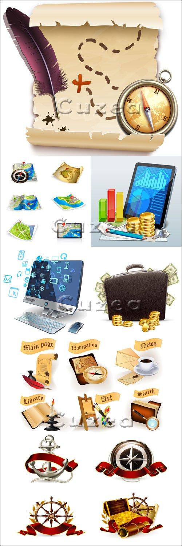 Бизнес и путешествия - векторный клипарт / Business and travel - vector stock