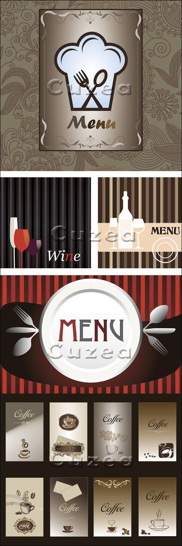 Винтажные меню, часть 4 / Vintage menu, 4 - vector stock