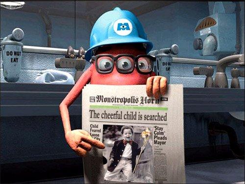 Рамка для фото - Корпорация монстров ищет веселого ребенка