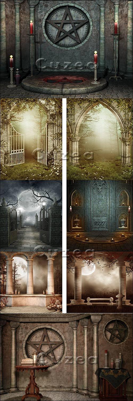Готические фантастические фоны / Gothic fantastic background - stock photo