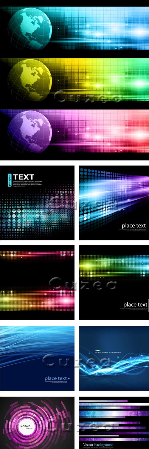 Абстрактные фоны, 20 / Abstract background, 20 - vector stock