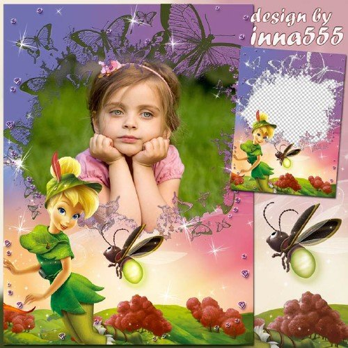 Рамка для девочки с феей  - Маленькая красавица Динь-Динь