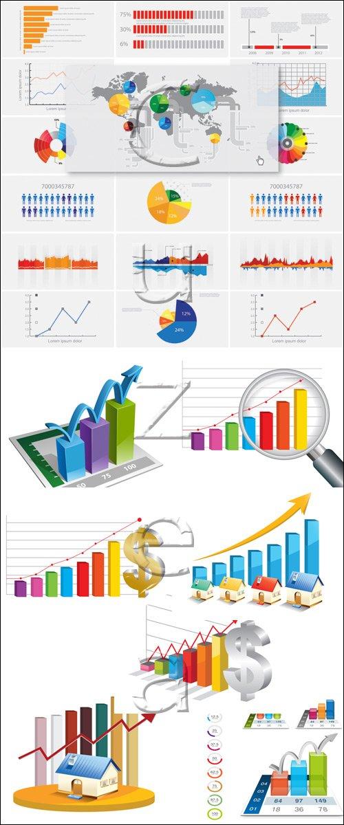 Прибыль и рост - векторный клипарт / Profit and growth, vector stock