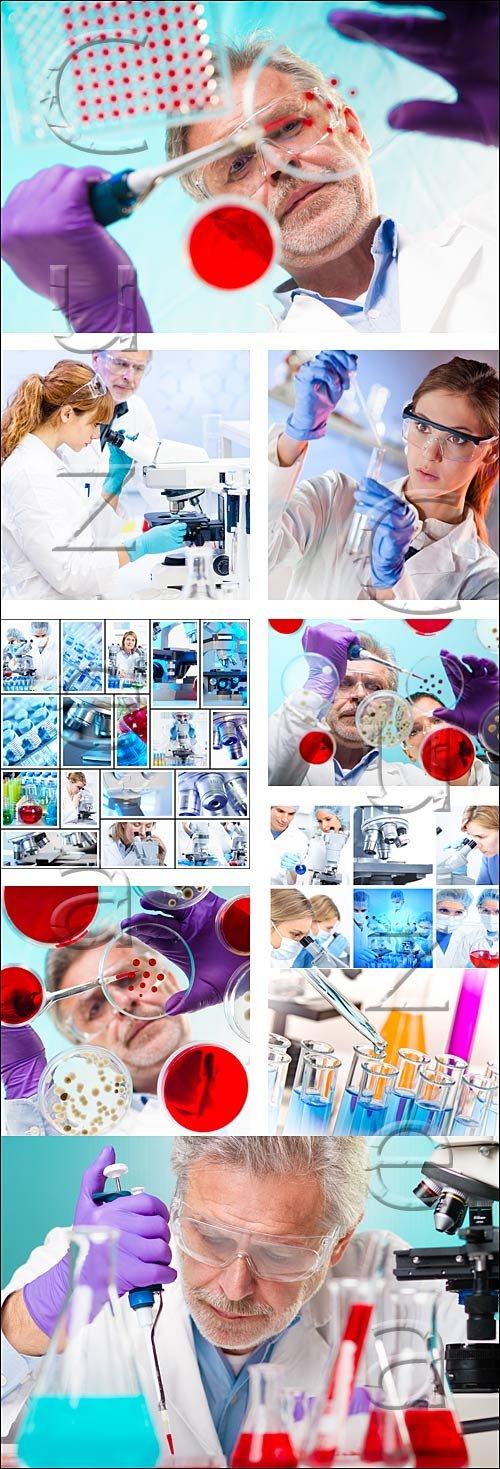 Научные эксперименты в лаборатории / Life science in laboratory, 8 - stock photo