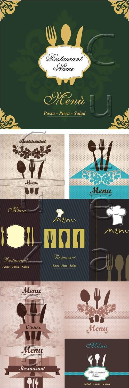 Винтажные фоны для меню, 24 / Vintage backgrounds for menu, 24  in vector